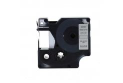 Kompatibilná páska s Dymo 45812, 19mm x 7m, čierny tisk / strieborný podklad