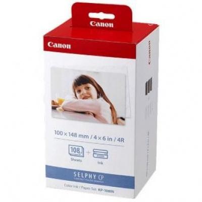 Canon Color Ink Paper Set, KP108IN, foto papír, lesklý, bílý, CP100, 220, 300, 330, 400, 500...