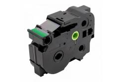 Kompatibilná páska s Brother TZ-S751 / TZe-S751, 24mm x 8m, extr.adh. čierna tlač / zelený podklad