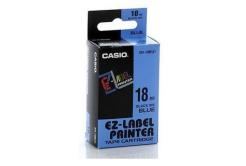 Casio XR-18BU1, 18mm x 8m, čierna tlač/modrý podklad, originálna páska