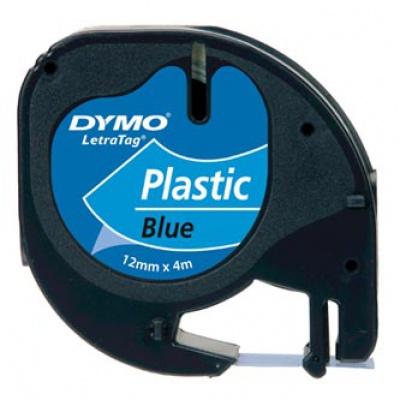 Dymo LetraTag 59426,S0721600 / S0721650 12mm x 4m čierna tlač/modrý podklad originálna páska