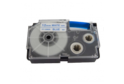 Kompatibilní páska s Casio XR-12WEB 12mm x 8m modrý tisk / bílý podklad