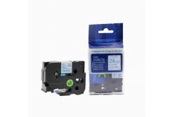 Kompatibilná páska s Brother TZ-253 / TZe-253, 24mm x 8m, modra tlač / biely podklad