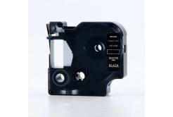 Kompatibilná páska s Dymo 45021, S0720610, 12mm x 7m, biela tlač/čierny podklad