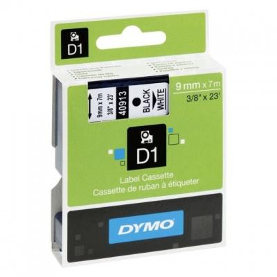 Dymo D1 40913, S0720680 / 41913, 9 mm x 7 m, čierna tlač/biely podklad, originálna páska