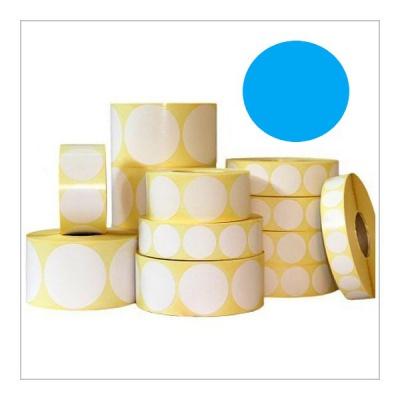 Samolepicí etikety kulaté 35 mm, 1000 ks, modré papírové pro TTR, role