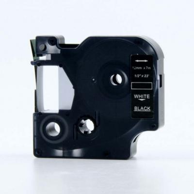 Kompatibilná páska s Dymo 53721, 24mm x 7m, biela tlač / čierny podklad
