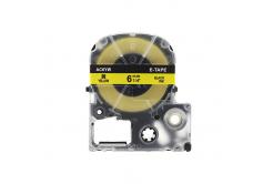 Epson LC-SC6YW, 6mm x 8m, černý tisk / žlutý podklad, kompatibilní páska