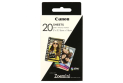 "Canon ZINK Photo Paper, foto papír, lesklý, Zero Ink, bílý, 5x7,6cm, 2x3"", 20 ks, 3214C002, termální,bez okrajů"