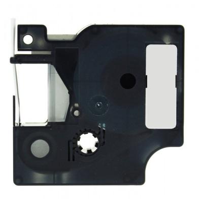 Kompatibilná páska s Dymo 18486, Rhino, 12mm x 5,5m čierna tlač / metalický podklad, polyester