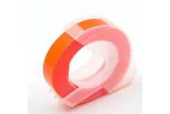 Dymo Omega, 9mm x 3m, biela tlač / fluorescenčný oranžový podklad, kompatibilná páska