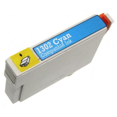 Epson T1302 azúrová (cyan) kompatibilná cartridge