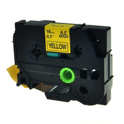 Brother TZe-V641, 18mm x 5,5m, černý tisk / žlutý podklad, vinyl, kompatibilní páska