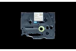 Brother TZ-R234 / TZE-R234, 12mm x 4m, zlatá tlač / biely podklad, originálna páska