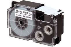 Casio XR-18X1, 18mm x 8m, čierna tlač/priehľadný podklad, originálna páska