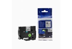 Kompatibilná páska s Brother TZ-S241/TZe-S241 18mm x 8m extr.adh. čierna tlač/biely podklad