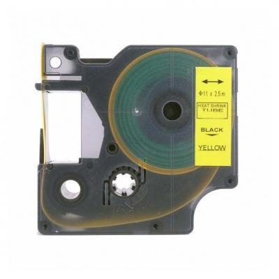 Kompatibilná páska s Dymo 18058, S0718340, Rhino, 19mm x 2,5m čierna tlač / žltý podklad