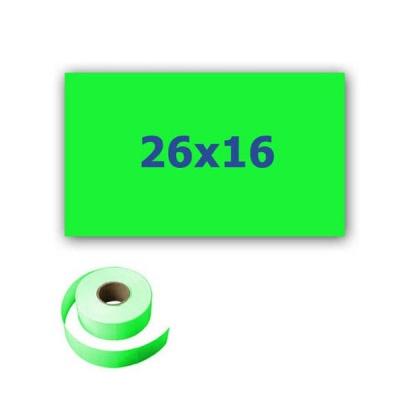 Cenové etikety do kleští, obdélníkové, 26mm x 16mm, 700ks, signální zelené