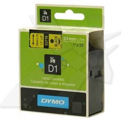 Dymo D1 53718, S0720980, 24 mm x 7 m, čierna tlač/žltý podklad, originálna páska