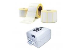 Samolepiace etikety 100x100 mm, 500 ks, termo, role