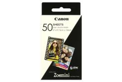 "Canon ZINK Photo Paper, foto papír, lesklý, Zero Ink, bílý, 5x7,6cm, 2x3"", 50 ks, 3215C002, termální,bez okrajů"