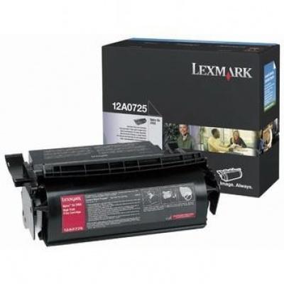 Lexmark 12A0725 čierný (black) originálny toner