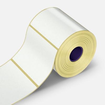 Samolepiace etikety 80x40 mm, 1000 ks, papierové pre TTR, role