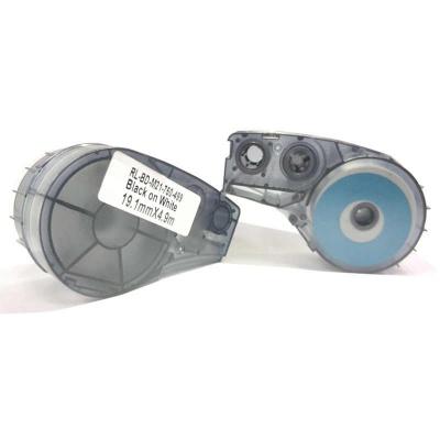 Brady M21-750-499 / 110895, Nylon Cloth, 19.05 mm x 4.88 m, černý tisk / bílý podklad, kompatibilní páska