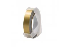 Dymo Omega, 9mm x 3m, biela tlač / zlatý podklad, kompatibilná páska