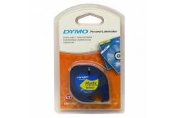 Dymo LetraTag 59423, S0721570, 12mm x 4m, čierna tlač/žltý podklad, originálna páska
