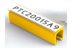 Partex PTC40015A4, žltý, 100ks, (5-6,2mm), PTC nacvakávací pouzdro na štítky
