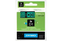 Dymo D1 45809, S0720890, 19mm x 7m, čierna tlač/zelený podklad, originálna páska