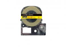 Epson LC-SC6YR, 6mm x 8m, červený tisk / žlutý podklad, kompatibilní páska