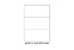 Samolepiace etikety 210 x 99 mm, 3 etikiet, A4, 100 listov
