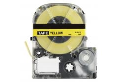 Brother TZe-SK12Y, 12mm x 5m, černý tisk / fluorescenční žlutý podklad, kompatibilní páska