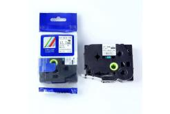 Kompatibilná páska s Brother HSe-241, 17,7mm x 1,5m, čierna tlač/biely podklad