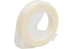 Dymo Omega, 9mm x 3m, biela tlač / priehľadný podklad, kompatibilná páska