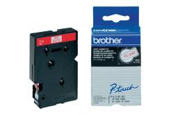 Brother TC-292, 9mm x 7,7m, červená tlač / biely podklad, originálna páska