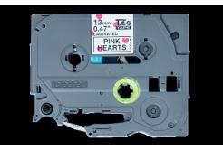 Brother TZ-MPPH31 / TZe-MPPH31, 12mm x 4m, čierna tlač / bílý-ružový podklad, originálna páska