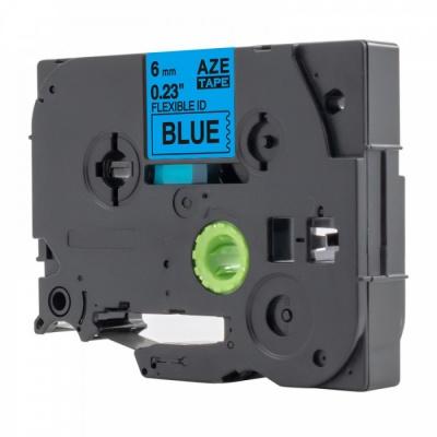 Kompatibilná páska s Brother TZ-S511 / TZe-S511, 6mm x 8m, extr.adh. čierna tlač / modrý podklad