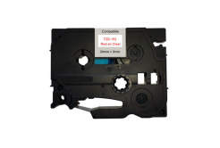 Kompatibilná páska s Brother TZ-152 / TZe-152, 24mm x 8m, červená tlač / priehľadný podklad