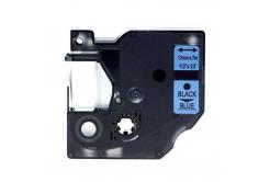 Kompatibilná páska s Dymo 45016, S0720560, 12mm x 7m, čierna tlač/modrý podklad