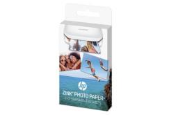 """HP ZINC Sticky-Backed Photo Paper, foto papír, lesklý, Zero Ink, bílý, 5,1x7,6cm, 2x3"""", 20 ks, W4Z13A, termální,bez okrajů"""