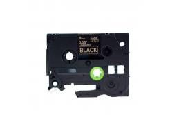 Kompatibilná páska s Brother TZ-324 / TZe-324, 9mm x 8m, zlatá tlač / čierny podklad