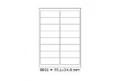 Samolepiace etikety 99,1 x 34 mm, 16 etikiet, A4, 100 listov