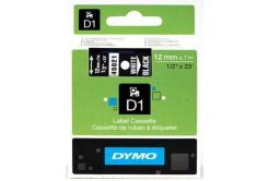 Dymo D1 45021, S0720610, 12mm x 7m biela tlač / čierný podklad, originálna páska