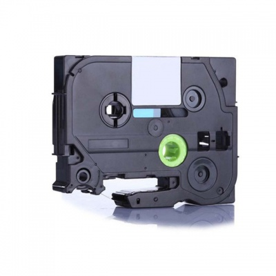 Kompatibilná páska s Brother TZ-FX212 / TZe-FX212, 6mm x 8m, flexi, čierna tlač / biely podklad