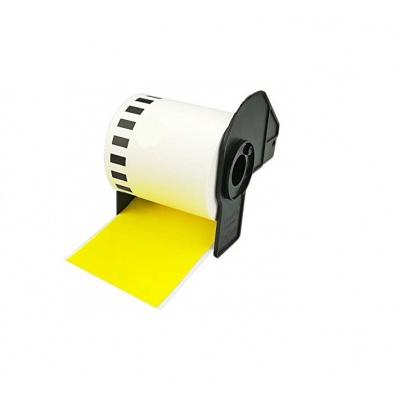Brother DK-22605, 62mm x 30,48m, kompatibilní žlutá role etiket
