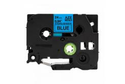 Kompatibilná páska s Brother TZ-S551 / TZe-S551, 24mm x 8m, extr.adh. čierna tlač / modrý podklad