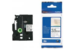 Brother TZE-N201, 3,5mm x 8m, čierna tlač/biely podklad, originálna páska
